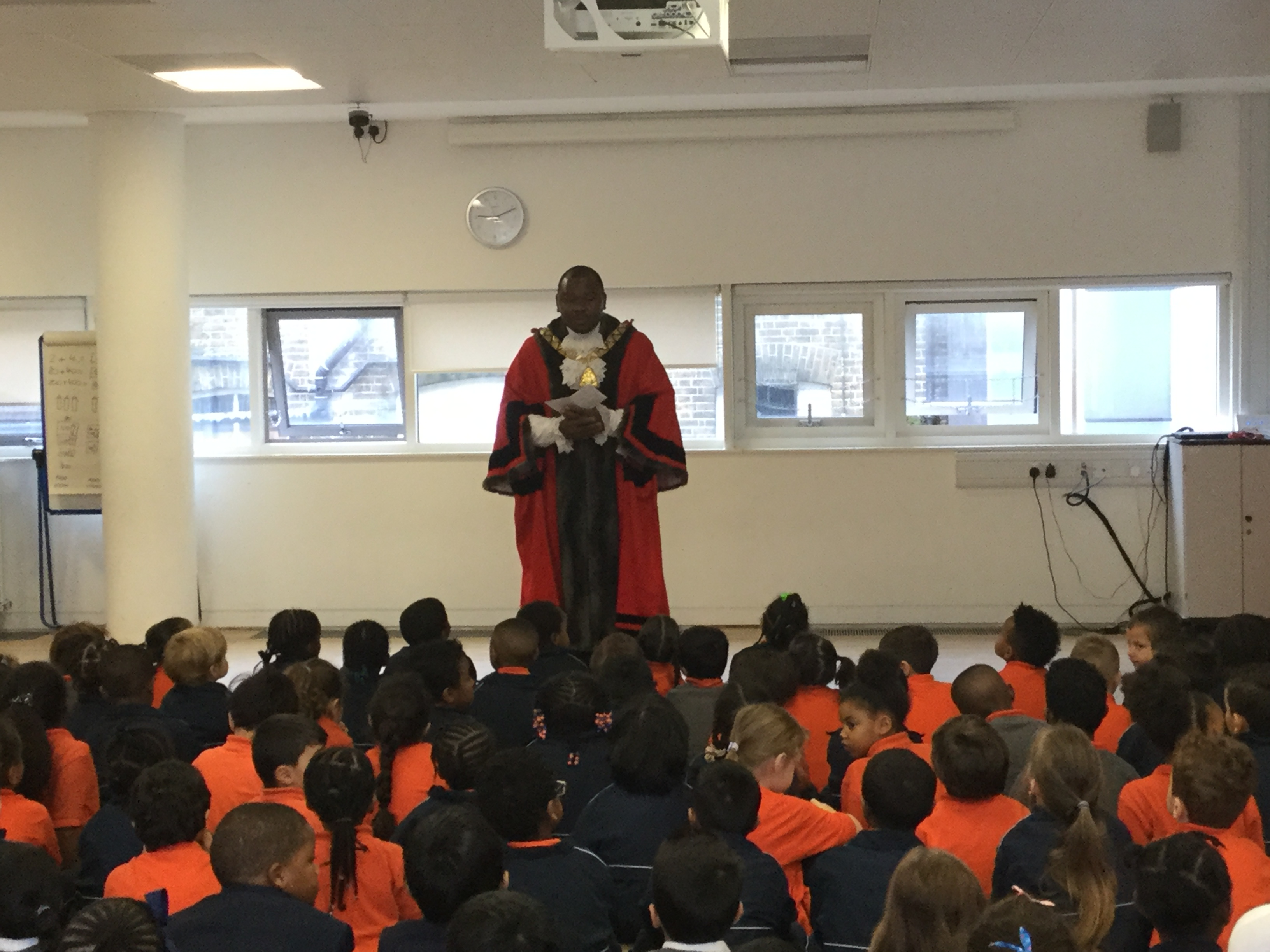 The Worshipful Mayor of Kilburn joined assembly on 15th October as part of Black History Month